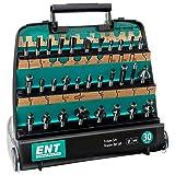 ENT 09030 30-tlg. HM Fräser Set in hochwertiger Kunststoffkassette - Schaft 8 mm
