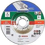 Bosch 5 Stück Trennscheibe (für Metall, Passend zu handgeführten Winkelschleifern mit einem...
