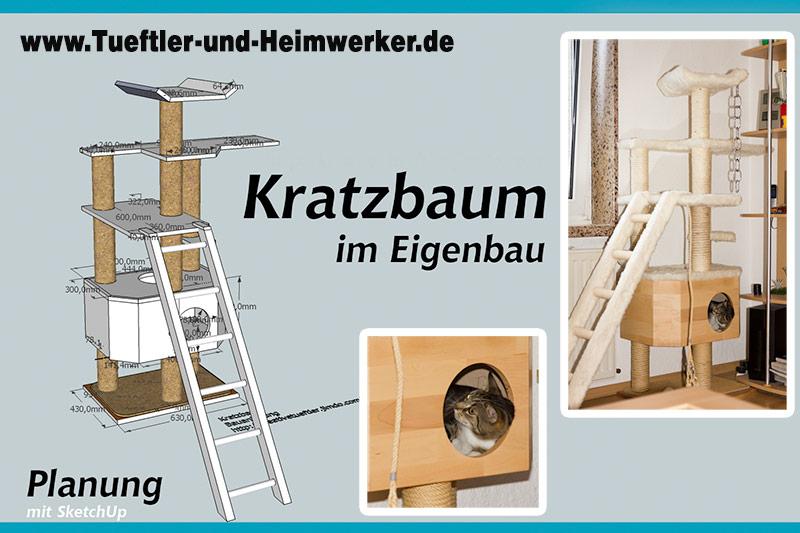 stabilen kratzbaum bauen tueftler und. Black Bedroom Furniture Sets. Home Design Ideas