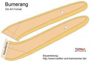 Einen Bumerang basteln