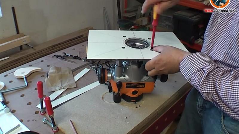 Oberfräse in Werktisch einbauen