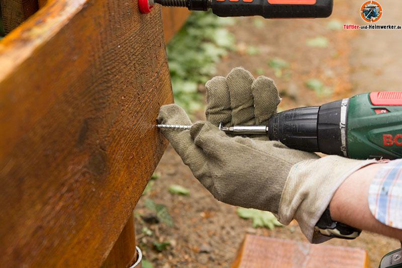 Holzzaun oder Gartenzaun selber bauen - Der Rancherzaun