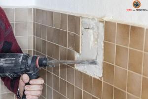 Bohrhammer Fließen entfernen