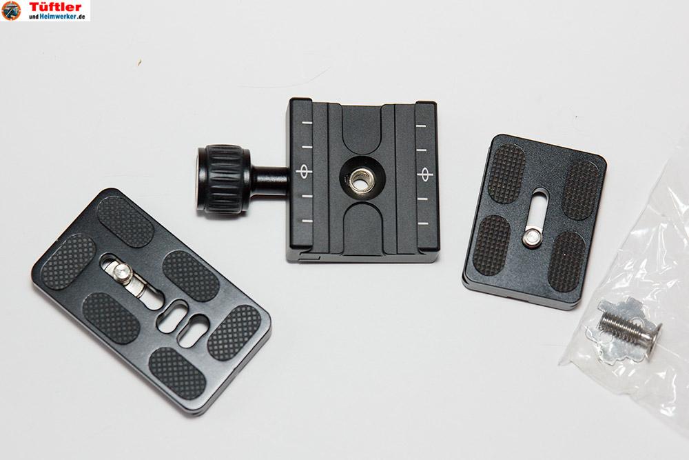 Kameraschiene-Schiebetuerschiene-Heimwerker-Videoaufnahmen-Wechselplatte-Lieferumfang