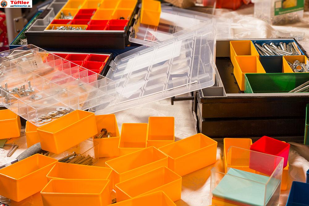 Kleinteilemagazin-Kunststoffboxen