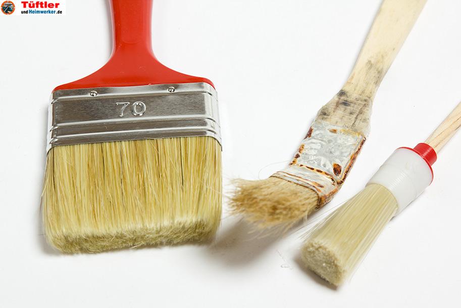renovieren heimwerken welcher pinsel f r welche malerarbeiten. Black Bedroom Furniture Sets. Home Design Ideas