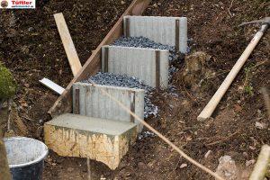 aussentreppe gartentreppe knueppeltreppe erste stufen tueftler und. Black Bedroom Furniture Sets. Home Design Ideas