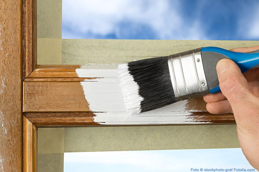 Nachteil: Holzfenster müssen gestrichen werden