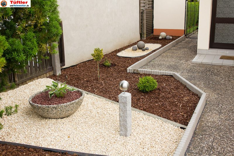 gartendeko: granitsäule und beton-deko selbst gemacht, Garten ideen