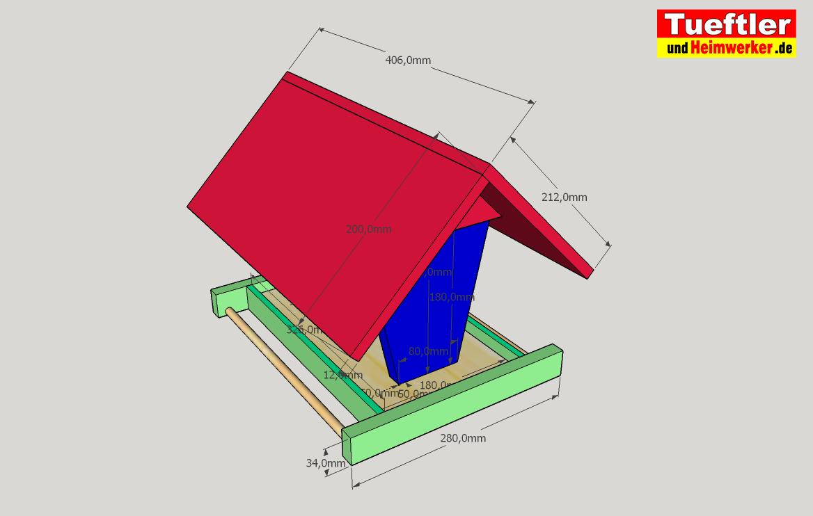 vogelfutterhaus selber bauen - bauanleitung für