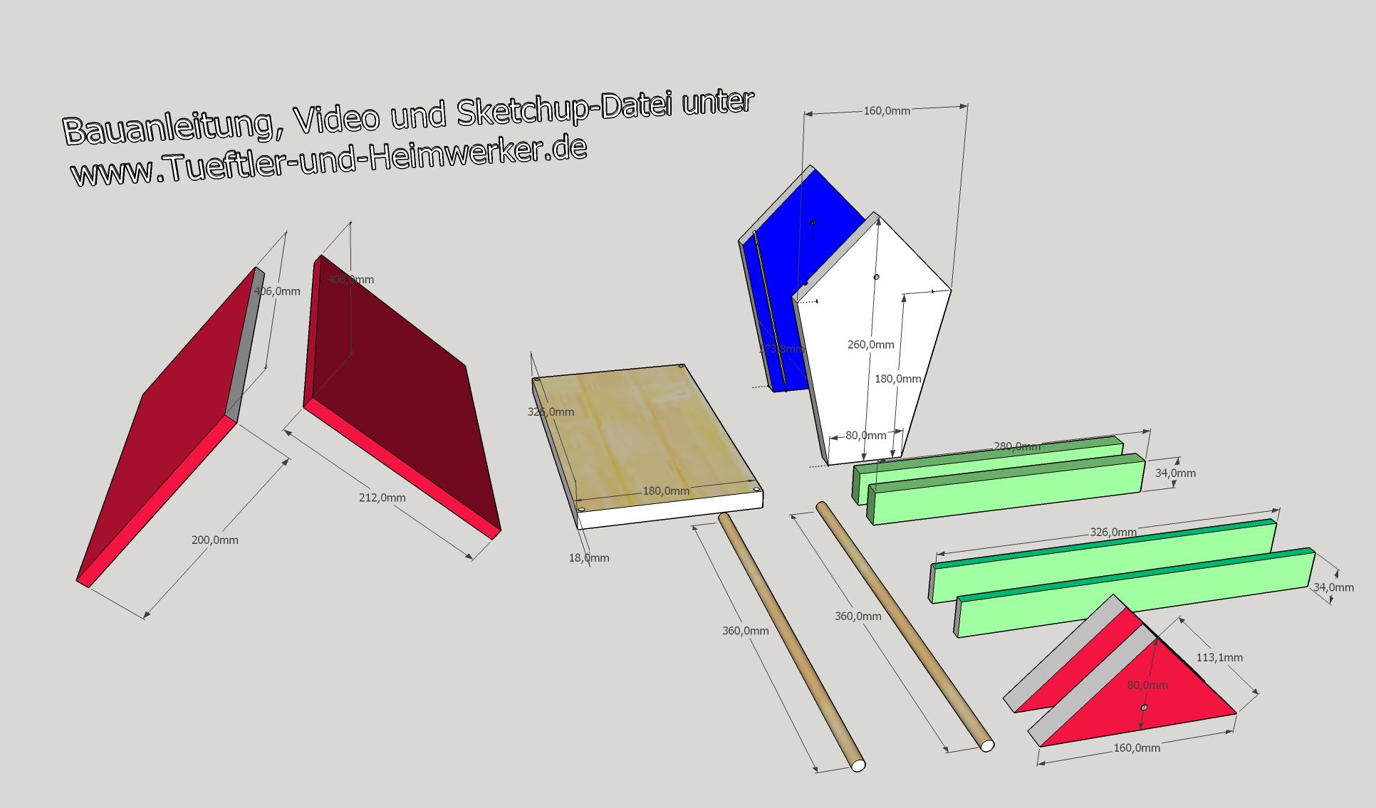 bauanleitung vogelfutterhaus swalif. Black Bedroom Furniture Sets. Home Design Ideas