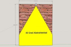 Skizze Abstrahlwinke