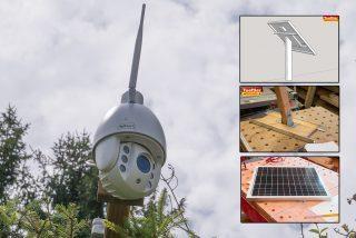 Überwachungskamera und Solarmodul installieren