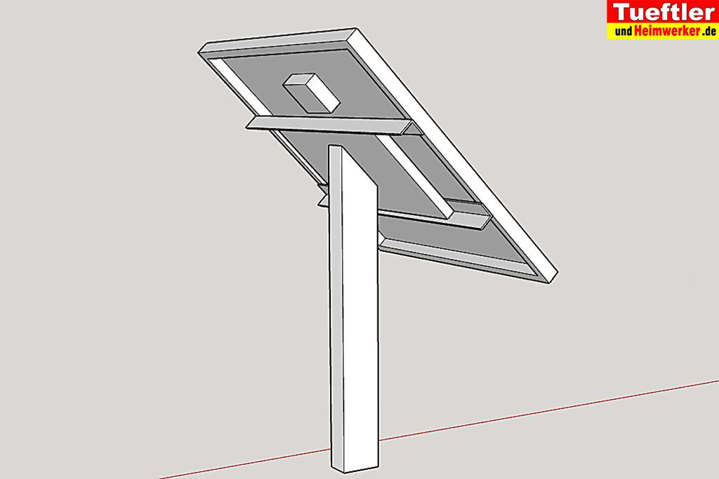 berwachungskamera und solarmodul installieren tueftler und. Black Bedroom Furniture Sets. Home Design Ideas
