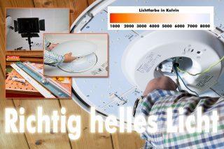 Richtig helle LED-Deckenleuchte – Wie viel Lumen?