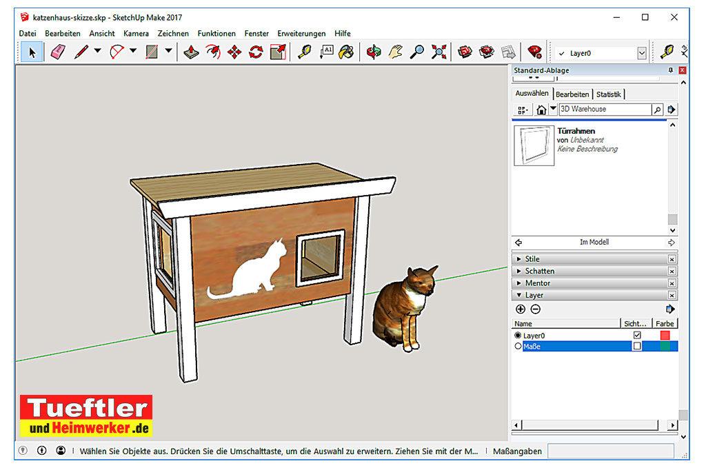 Katzenhaus-DIY-Projekt-Sketchup-Programm