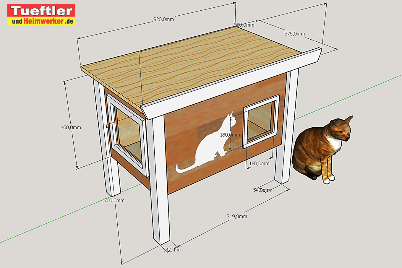 diy - outdoor katzenhaus für kalte jahreszeiten selber bauentueftler