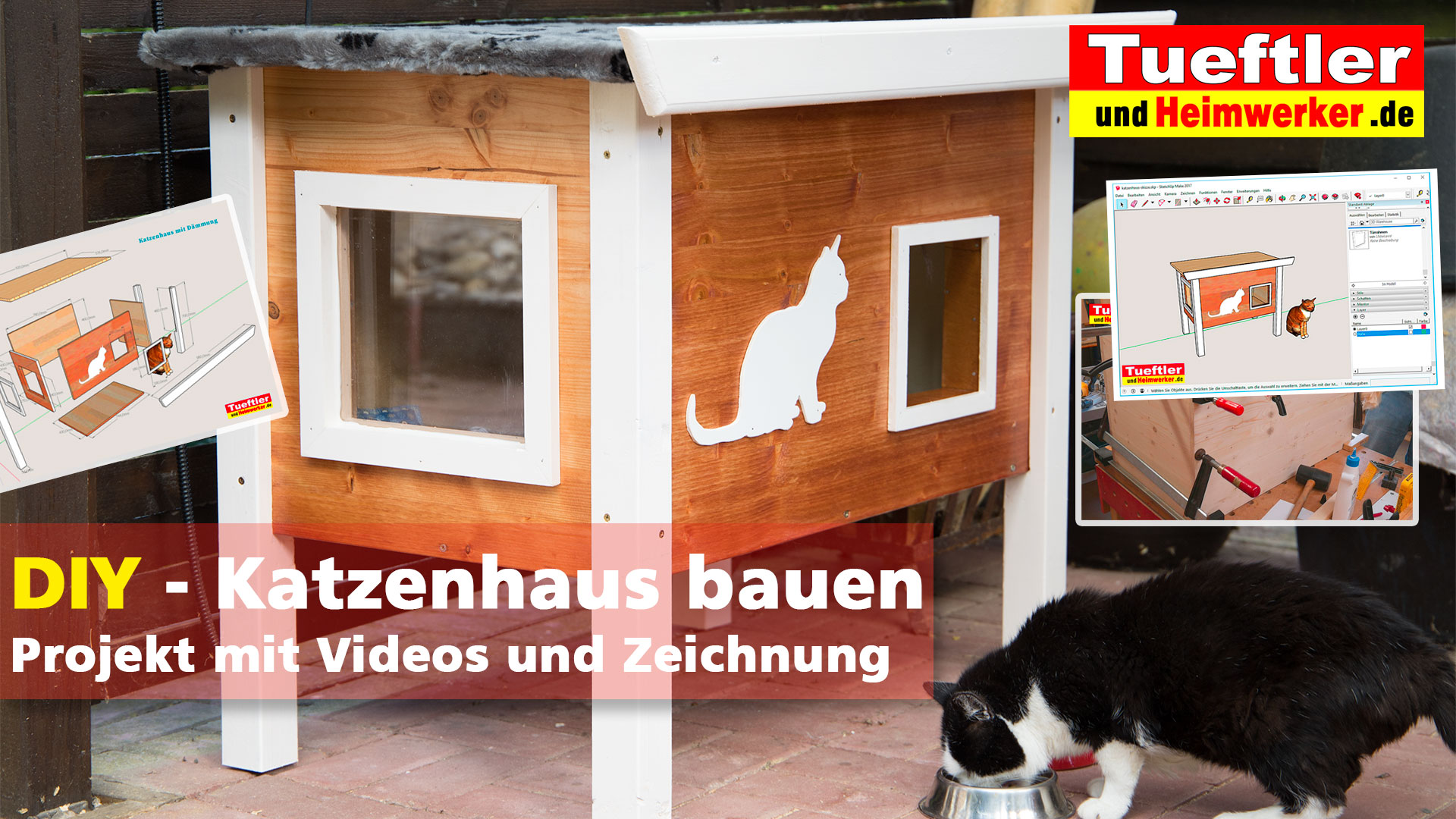 outdoor katzenhaus diy projekt bauanleitung tueftler und. Black Bedroom Furniture Sets. Home Design Ideas
