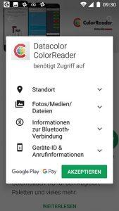 ColorReader-App-Rechte