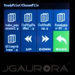 JGAURORA-A5-3D-Drucker-Test-Display-Dateiauswahl