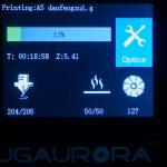 JGAURORA-A5-3D-Drucker-Test-Display-Fortschritt