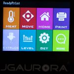 JGAURORA-A5-3D-Drucker-Test-Display-Hauptscreen