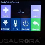 JGAURORA-A5-3D-Drucker-Test-Display-Preheat