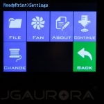 JGAURORA-A5-3D-Drucker-Test-Display-Settings