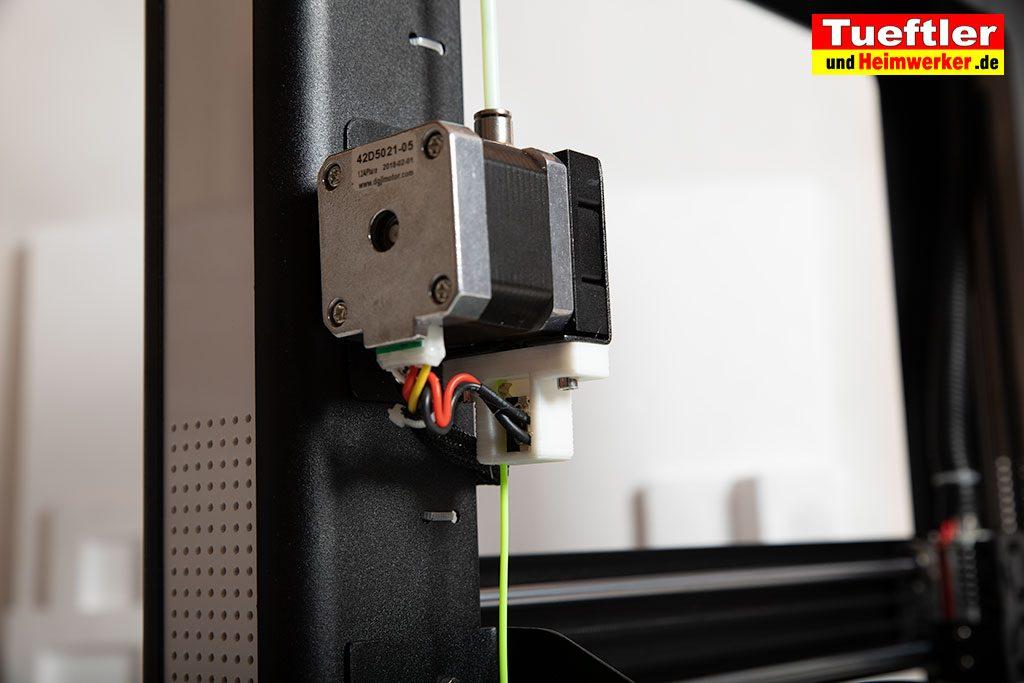 JGAURORA-A5-3D-Drucker-Test-Extruder-Filament-Eingang
