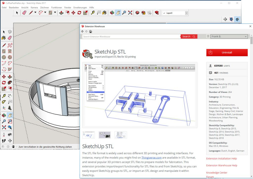 Sketchup STL-Export Plugin