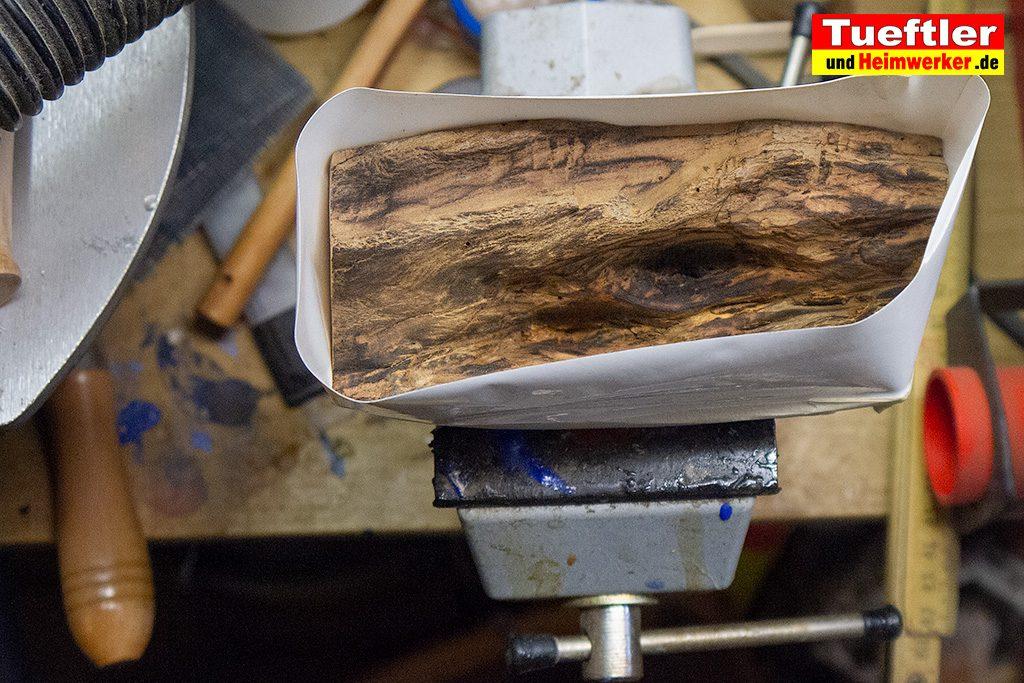 Berühmt Trockenrisse im Holz - Epoxidharz hilft - Tueftler-und-Heimwerker RX51