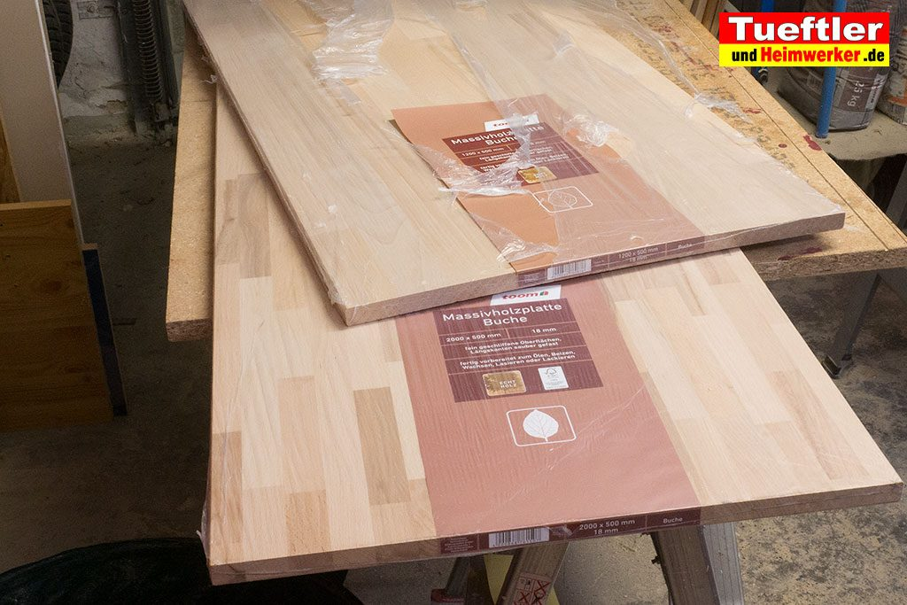 Standard Buche Leimholz aus dem Baumarkt