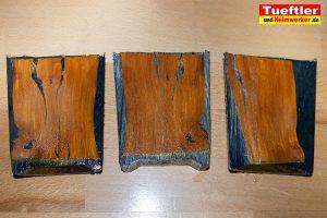 Risse mit Harz oder Kleber beseitigen