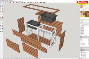 Hochbeet-Muellbox-Gartenbox-Sketchup-Planung