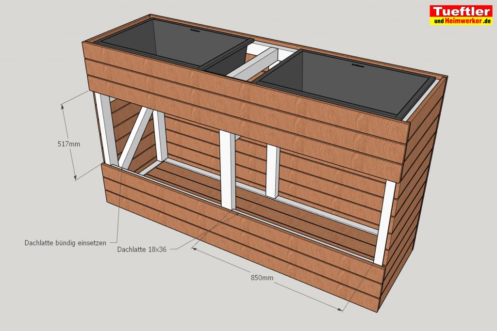 Schritt-12-Hochbeet-Muellbox-Gartenbox-Sketchup-Restlichen-Bretter-montieren