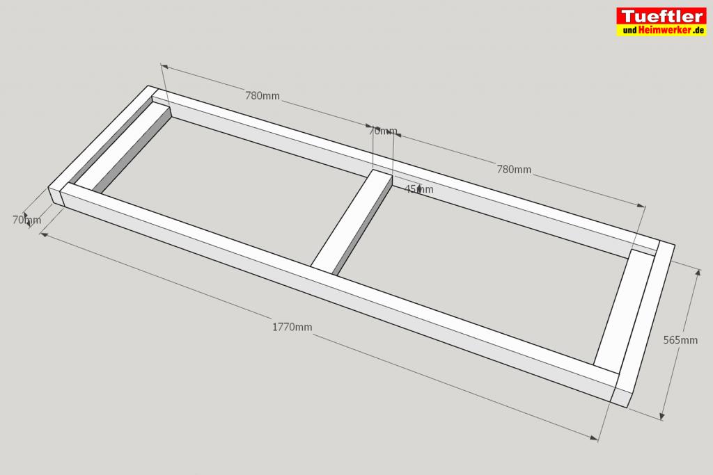 Schritt-4-Hochbeet-Muellbox-Gartenbox-Sketchup-untere-Rahmen