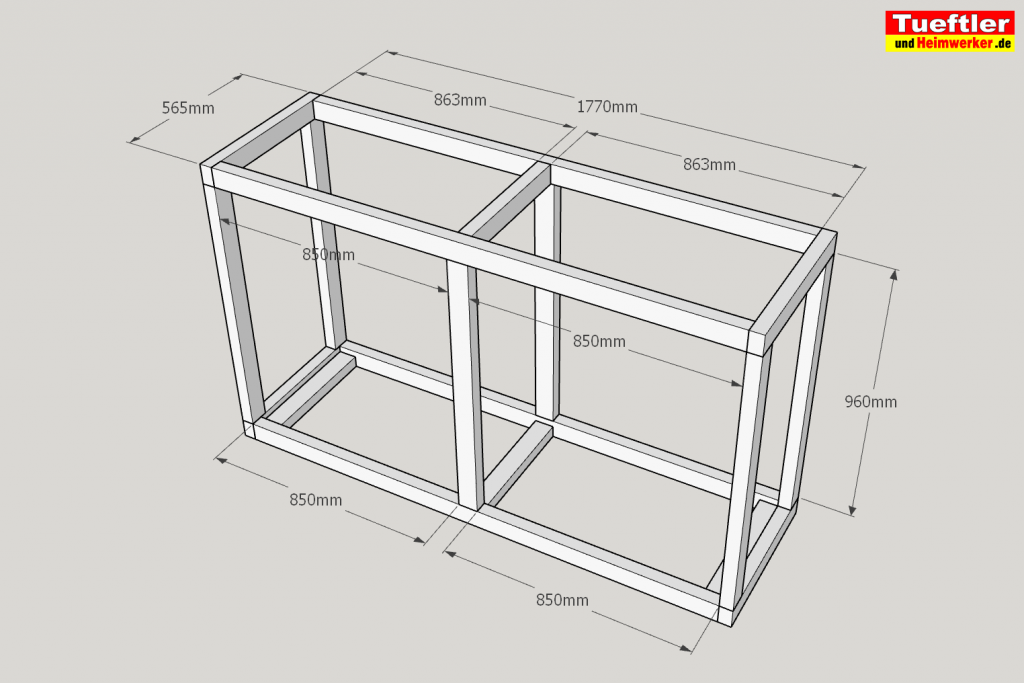 Schritt-5-Hochbeet-Muellbox-Gartenbox-Sketchup-Rahmen-verbinden