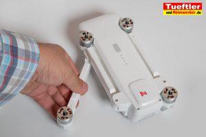 Drohne-Test-FIMI-X8-SE-Drohne-Arme-ausklappen