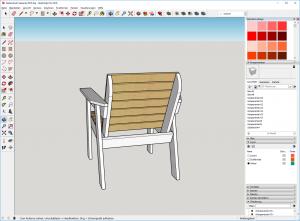 Gartenstuhl-bauen-DIY-Sketchup-Fertig-Sketchup-Pro-2