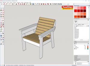 Gartenstuhl-bauen-DIY-Sketchup-Fertig-Sketchup-Pro
