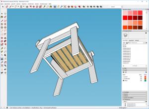 Gartenstuhl-bauen-DIY-Sketchup-Fertig-von-unten
