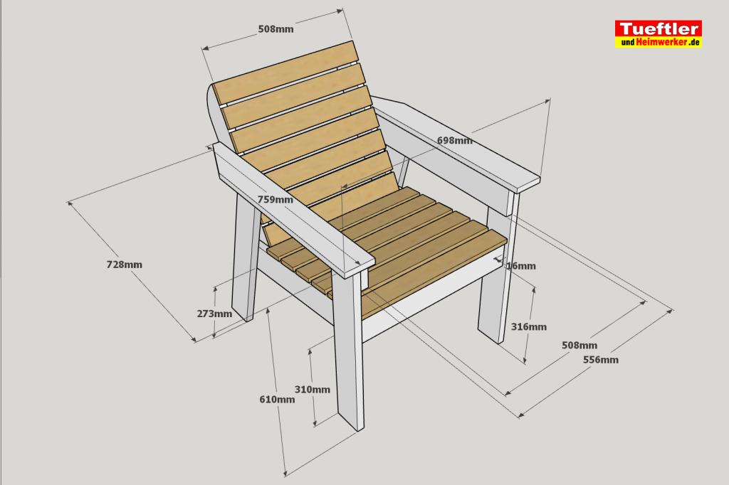 Gartenstuhl-bauen-DIY-Sketchup-Grundmasse