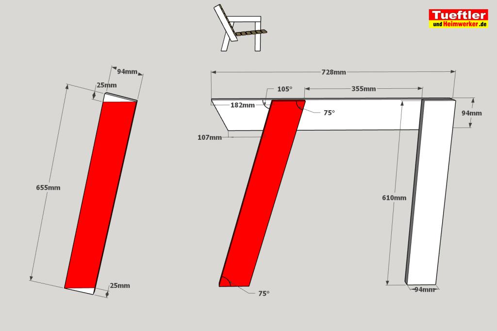 Gartenstuhl-bauen-DIY-Sketchup-Linke-Seite