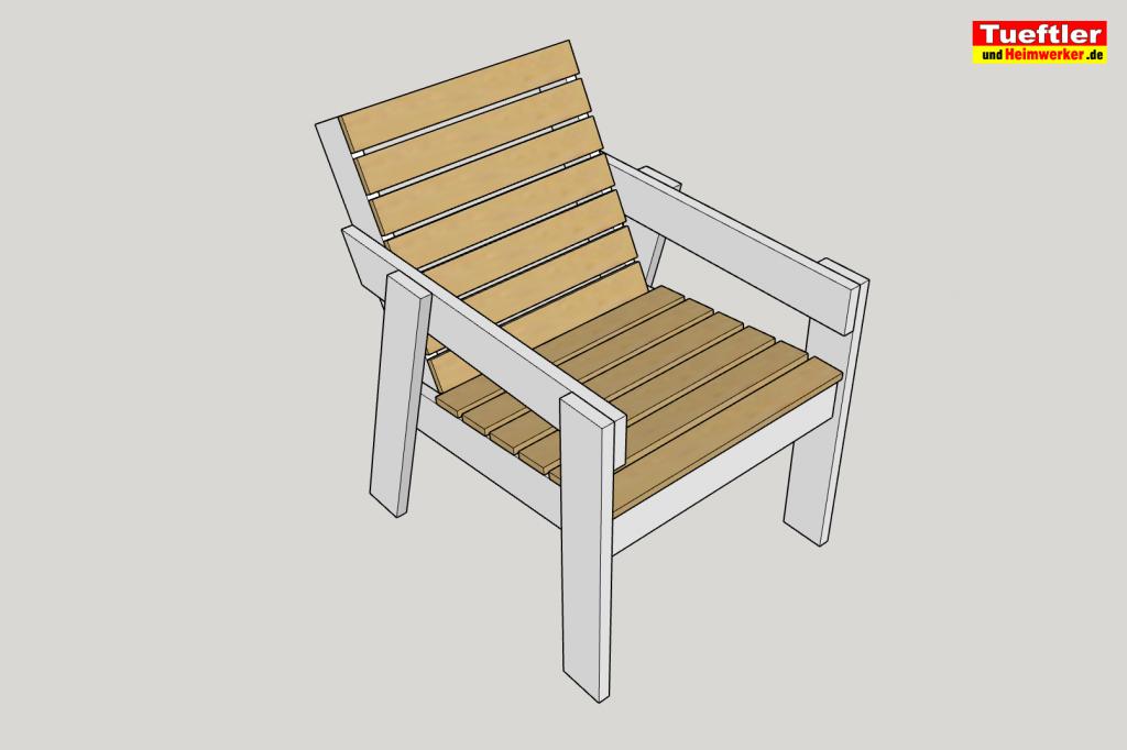 Gartenstuhl-bauen-DIY-Sketchup-mit-Latten