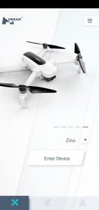 App-Drohne-Hubsan-H117S-Zino-Test-Startscreen