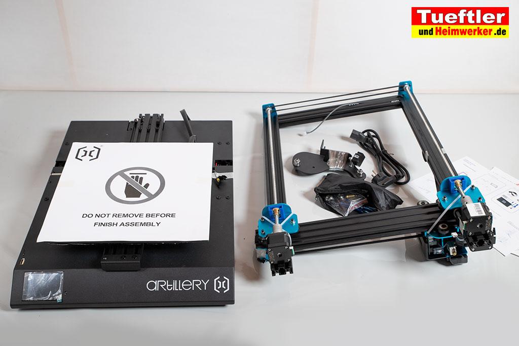 Artillery-Sidewinder-X1-Test-3D-Drucker-Ausgepackt