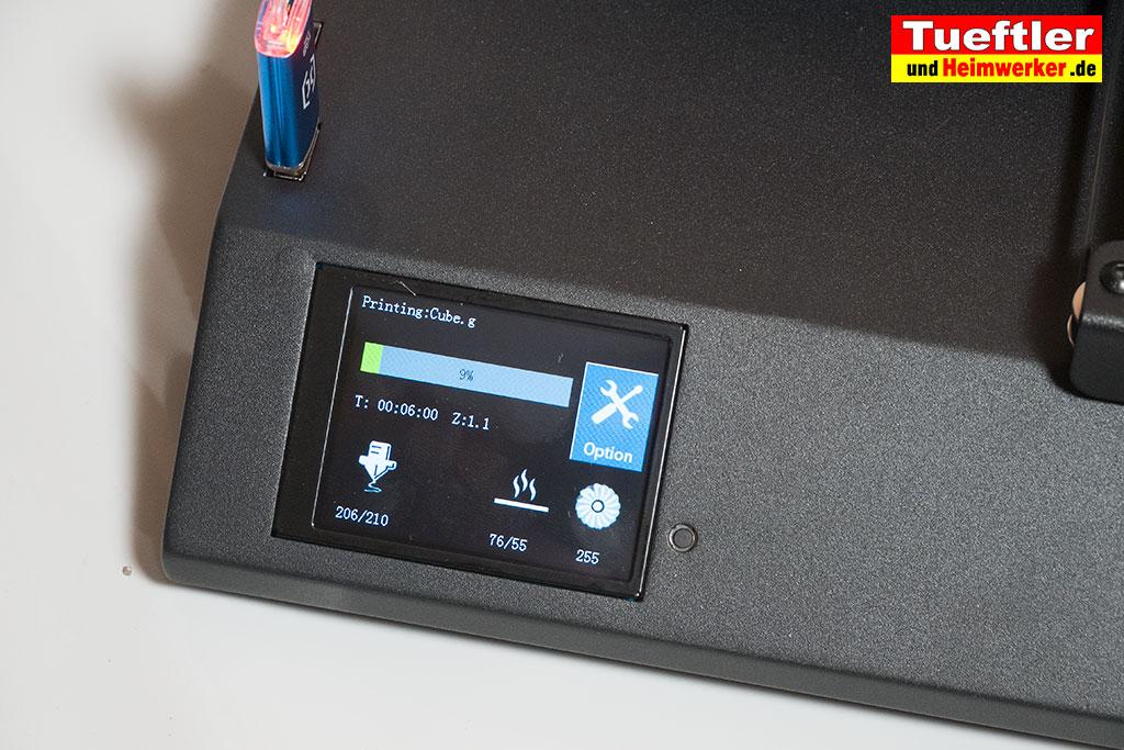 Artillery-Sidewinder-X1-Test-3D-Drucker-Display-Print-Cube