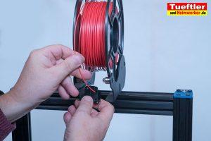 Artillery-Sidewinder-X1-Test-3D-Drucker--Filament-in-Sensor-stecken