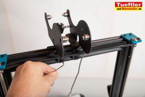 Artillery-Sidewinder-X1-Test-3D-Drucker--Filamenthaltzer-anschrauben