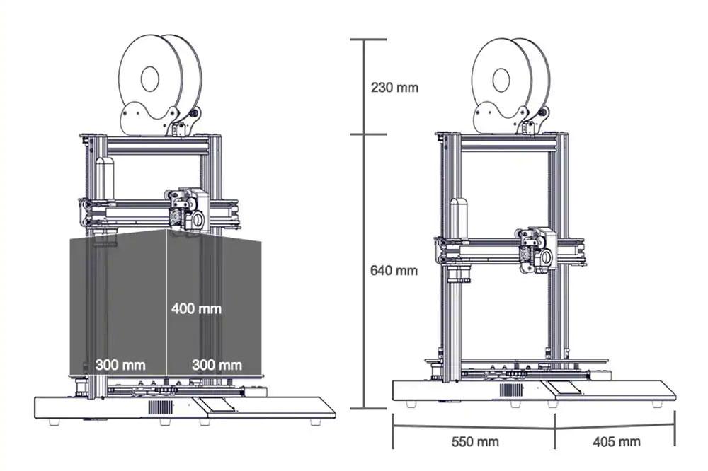 Artillery-Sidewinder-X1-Test-3D-Drucker-dimension